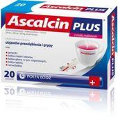 Ascalcin Plus smak malinowy x 20 saszetek - data ważności 30-10-2015r.