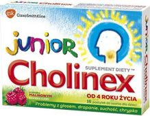 CHOLINEX Junior x 16 pastylki do ssania