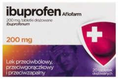 IBUPROFEN AFLOFARM 400mg x 20 tabletki drażowane