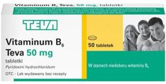 VITAMINUM B6 50mg x 50 tabletek