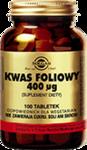 SOLGAR Kwas Foliowy 400µg x 100 tabletek