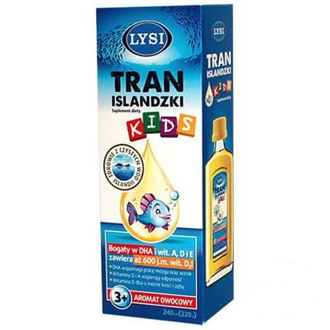 Lysi Tran Islandzki Kids owocowy 240ml