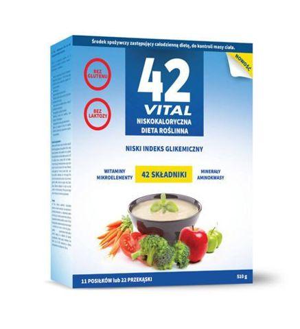 42 VITAL Niskokaloryczna dieta roślinna 510g (11 posiłków lub 22 przekąski)
