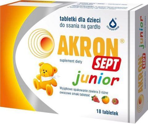 AKRON SEPT JUNIOR x 18 tabletek do ssania