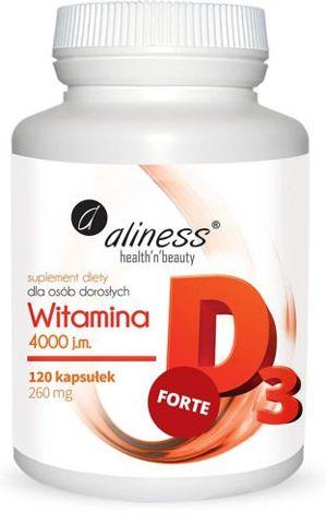 ALINESS Witamina D3 Forte 4000 j.m. x 120 kapsułek