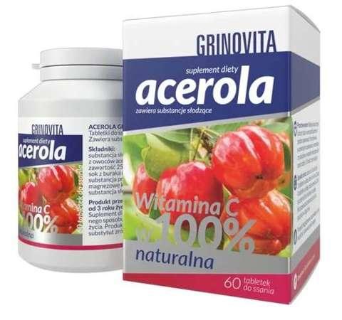 Acerola Gripovita x 60 tabletek do ssania