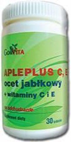Apleplus Ocet jabłkowy + Vit.C,E  x 30 tabletek