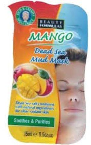 BEAUTY FORMULAS Maseczka glinkowa z mango i minerałami z Morza Martwego 15ml