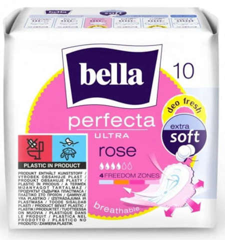BELLA PERFECTA ROSE DEO FRESH Podpaski x 10 szt.