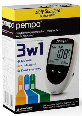 BENECHECK Plus 3w1 monitor glukozy, cholesterolu i kwasu moczowego - zestaw