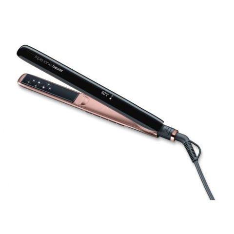 BEURER Prostownica do włosów z ceramiczno-turmalinową powłoką i funkcją Triple Ionic HS 80