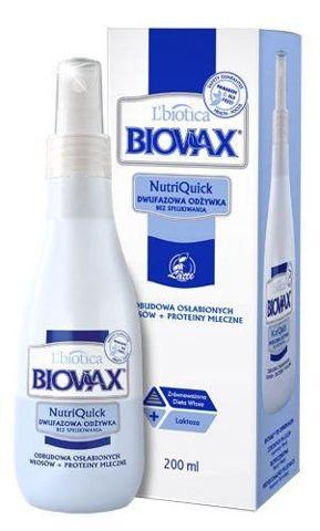 BIOVAX Dwufazowa odżywka bez spłukiwania do włosów osłabionych Latte 200ml