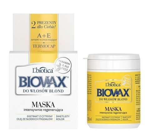 BIOVAX Intensywnie regenerująca maseczka do włosów blond 250ml - data ważności 31-12-2017r.