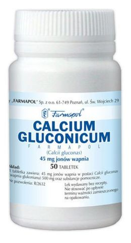CALCIUM GLUCONICUM x 50 tabletek