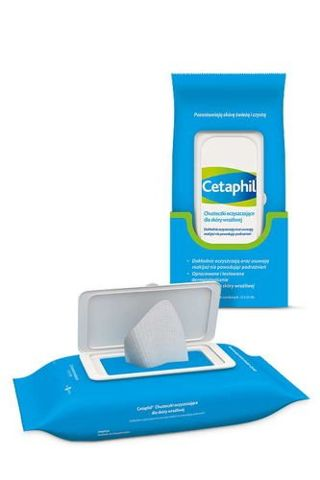 CETAPHIL Chusteczki oczyszczające do skóry wrażliwej x 25 sztuk