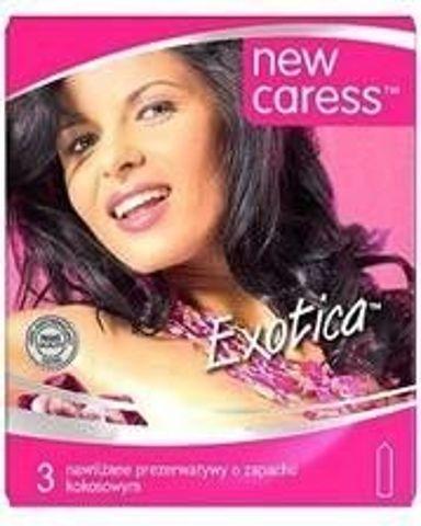 Caress Exotica II Prezerwatywy nawilżane o zapachu Tutti Frutti x 3 sztuki