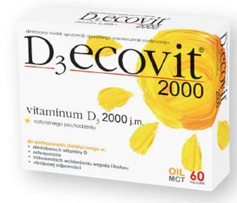 D3 ecovit 2000 x 60 kapsułek