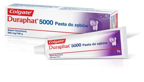 DURAPHAT 5000 Colgate Pasta do zębów 1,10% 51g