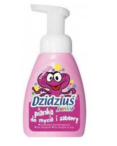 DZIDZIUŚ Pianka do mycia i zabawy Junior o zapachu truskawkowym 270ml
