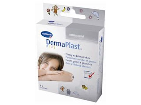 DermaPlast Kids Antibacterial Plaster 76mm x 76mm x 8 sztuk