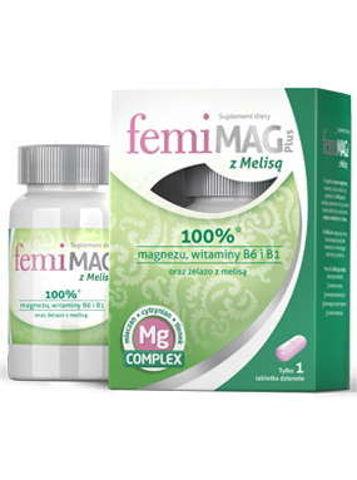 FemiMag Plus z melisą x 30 tabletek