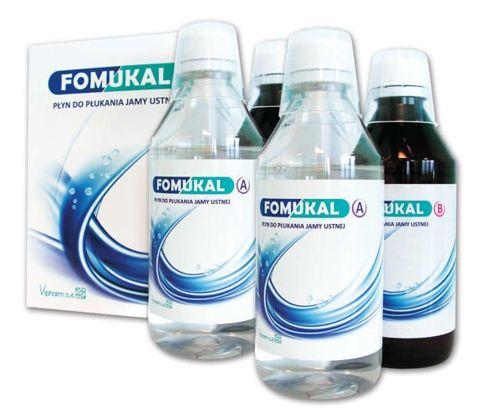 Fomukal płyn do płukania jamy ustnej x 2 butelki A 225ml + 2 butelki B 225ml