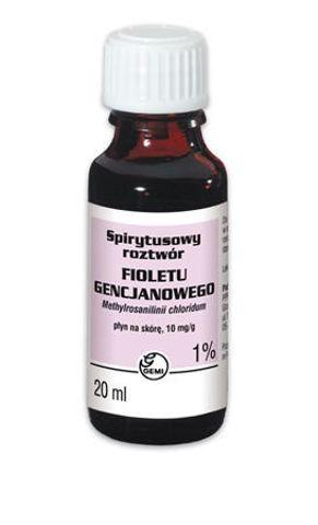 GENCJANA Fiolet roztwór spirytusowy 1% 20ml