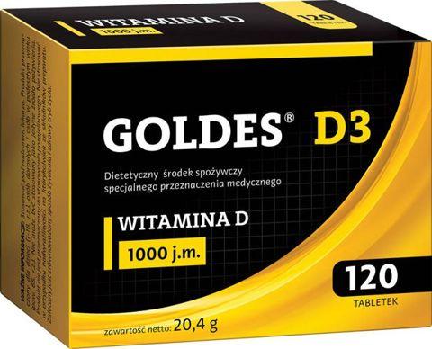 Goldes D3 1000 j.m. x 120 tabletek