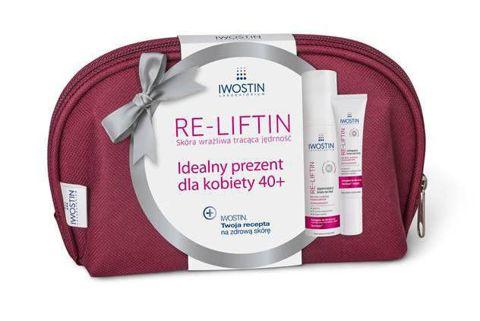 IWOSTIN RE-LIFTIN Ujędrniający krem na noc 50ml + Liftingujący krem pod oczy 15ml + kosmetyczka w prezencie
