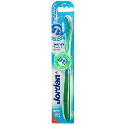 JORDAN TARGET TEETH & GUMS SOFT Szczoteczka do zębów x 1 sztuka