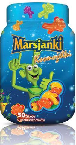 MARSJANKI KOSMOŻELKI x 50 sztuk smak owocowy