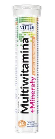 MULTIWITAMINA + MINERAŁY Biotter x 20 tabletek musujących