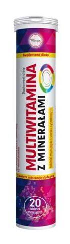 Multiwitamina z minerałami x 20 tabletek musujących