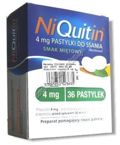 NIQUITIN  4mg x 36 past. miętowe