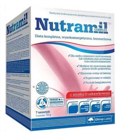 NUTRAMIL Complex x 7 saszetek smak truskawkowy