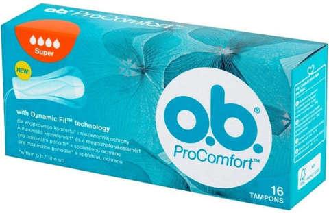 OB PROCOMFORT SUPER x 16 tamponów