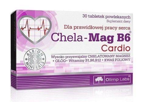 OLIMP Chela-Mag B6 Cardio x 30 tabletek - data ważności 23-11-2017r.