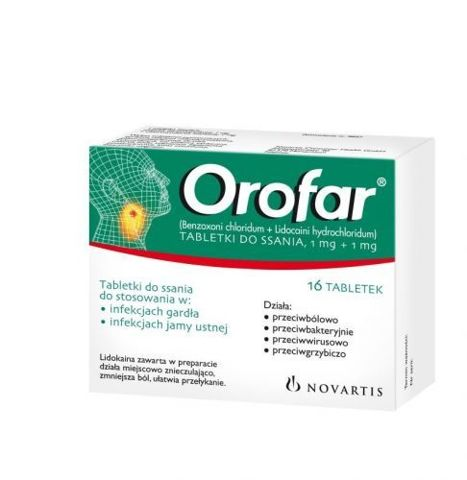 OROFAR x 16 tabletek do ssania