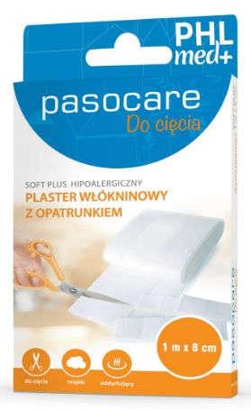 Pasocare Soft Plus plaster włókninowy z opatrunkiem 1m x 8cm