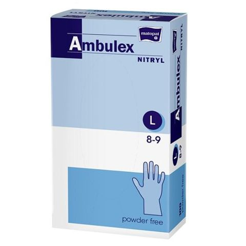 Rękawice Ambulex Nitryl niejałowe niepudrowane rozmiar L x 100 sztuk