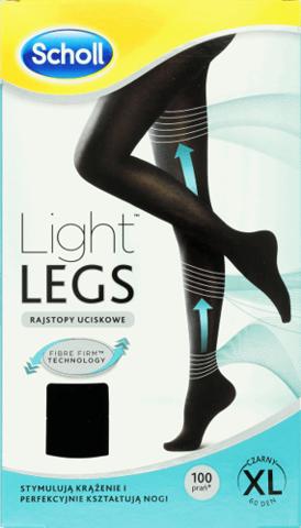 SCHOLL Light Legs Rajstopy uciskowe 60DEN rozmiar XL czarne x 1 sztuka