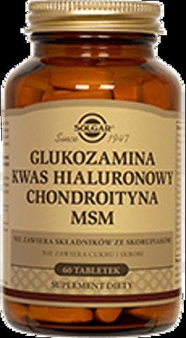 SOLGAR Glukozamina kwas hialuronowy chondroityna MSM kompleks x 60 tabletek