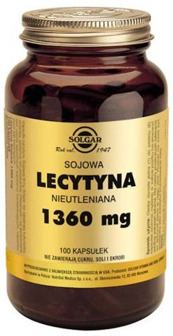 SOLGAR Lecytyna sojowa 1360mg x 100 kapsułek