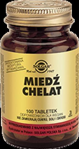 SOLGAR Miedź chelat aminokwasowy x 100 tabletek