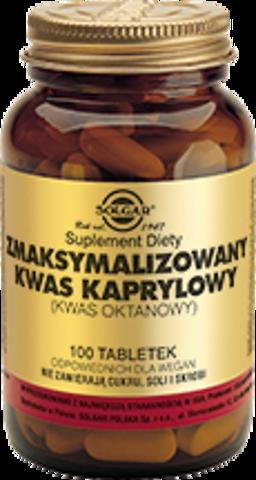 SOLGAR Zmaksymalizowany Kwas Kaprylowy x 100 tabletek