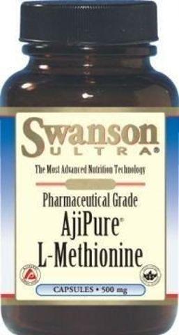 SWANSON AjiPure L-metionina 500mg x 60 kapsułek