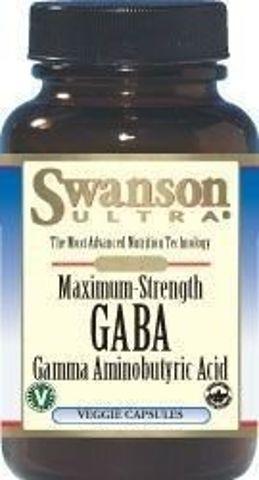 SWANSON GABA forte 750mg x 60 kapsułek