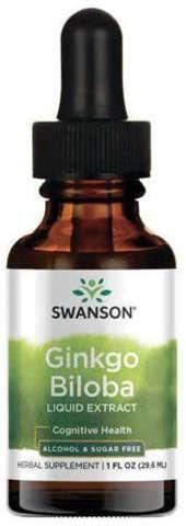 SWANSON Ginkgo Biloba Liquid Extract 29,6ml