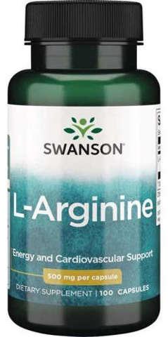 SWANSON L-arginina 500mg x 100 kapsułek