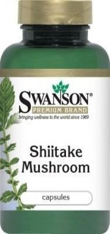 SWANSON Shiitake grzybek 500mg x 60 kapsułek